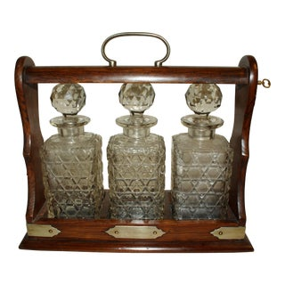 Late 19th Century English Tantalus With Decanters - Set of 4 For Sale