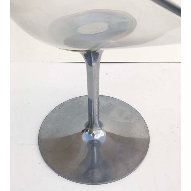 1970s Philippe Starck for Kartell Clear Lucite Eros Swivel Italian Chairs- Set of 3 For Sale - Image 5 of 7