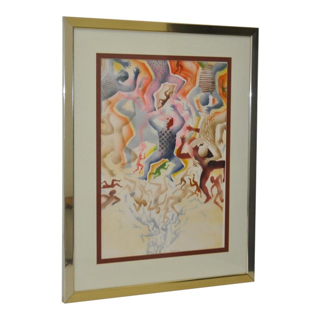 Mid-Century Modern Airbrush Painting by McBride For Sale