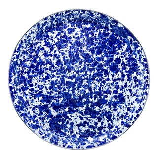 Medium Tray Cobalt Swirl For Sale