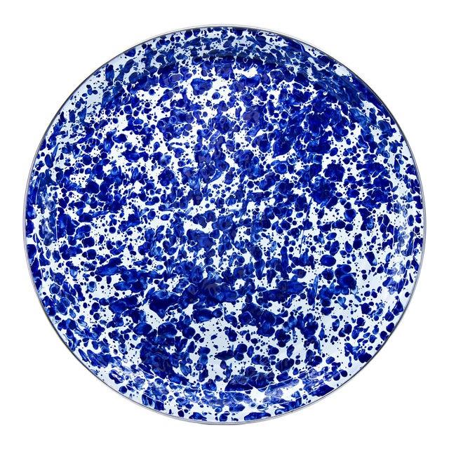 Medium Tray Cobalt Swirl For Sale