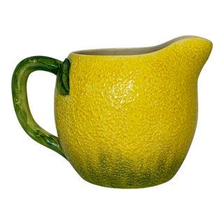 Vintage Italian Lemon Shaped Pitcher For Sale