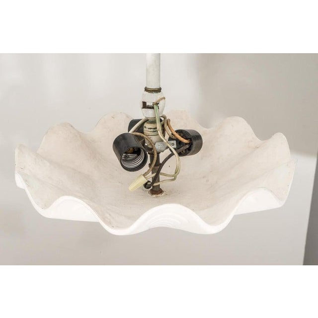 """1970s Sirmos """"Sand Dollar"""" Shell Form Chandelier For Sale - Image 5 of 11"""