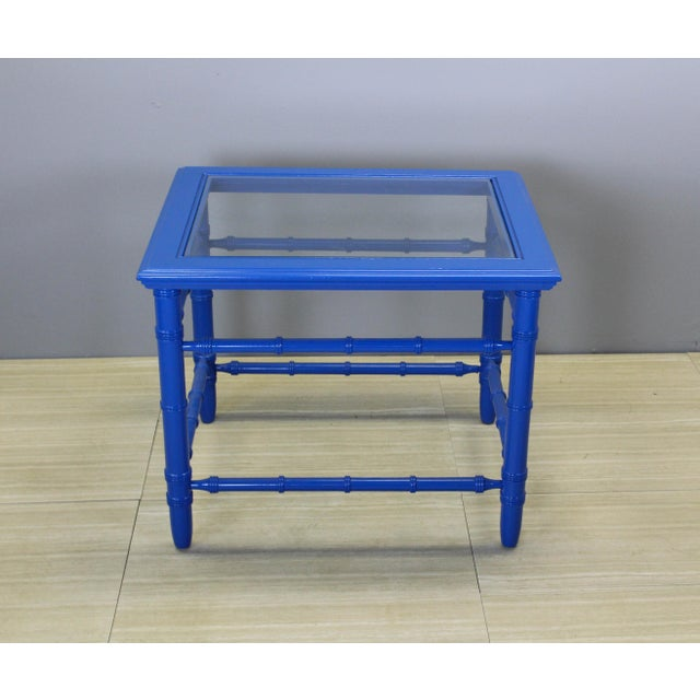 Mid-Century Royal Blue Side Tables - A Pair For Sale In Miami - Image 6 of 10
