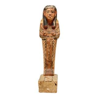 Wood Polychrome Sculpture Ptah-sokar-osiris For Sale