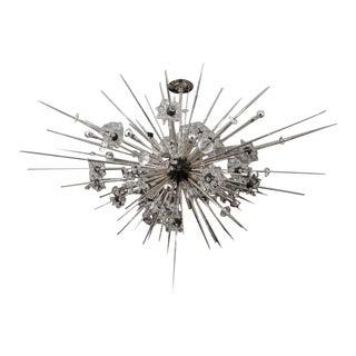 Monumental Nickel Plated Crystal Sputnik