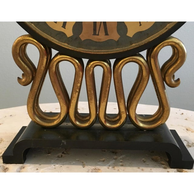 Mid-Century Bulova Table Clock For Sale In Miami - Image 6 of 6