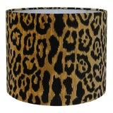 Image of Velvet Animal Print Lamp Shade, Medium For Sale