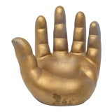 Image of 1960s Gold Ceramic Hand Model For Sale