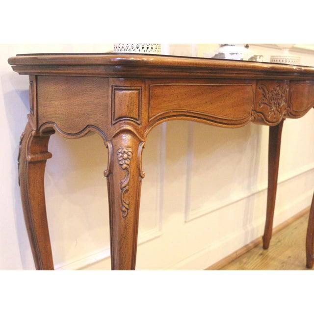 1970s 1970s Vintage Thomasville French Country Style Console Table For Sale - Image 5 of 13