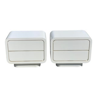 Space Age Atomic Waterfall Nightstands - A Pair For Sale