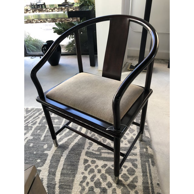 Mahogany 1990s Brueton Ming Inspired Chairs - Set of 4 For Sale - Image 7 of 13
