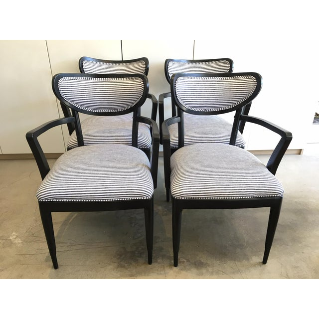 Mid-Century Crescent Back Dining Chairs - Set of 4 - Image 2 of 10
