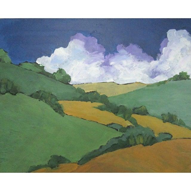 Malibu Hills Impressionist California Plein Air Landscape For Sale