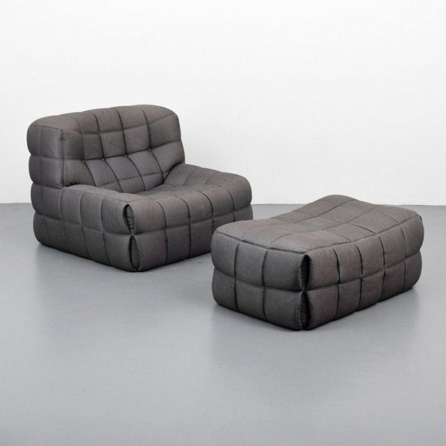 "Ligne Roset Michel Ducaroy ""Kashima"" Chair & Ottoman For Sale - Image 4 of 8"