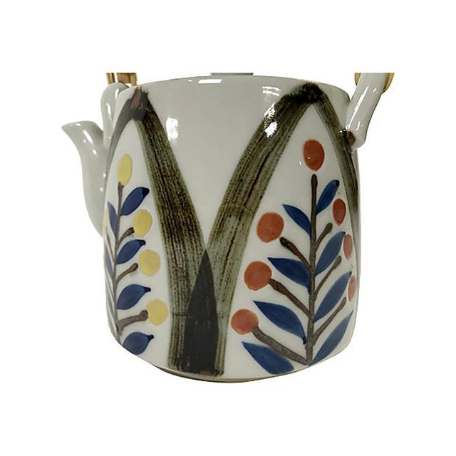 Late 20th Century Hand Painted Japanese Teapot For Sale In Kansas City - Image 6 of 7