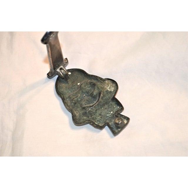 Gold Witch 1927 Bronze Door Knocker For Sale - Image 8 of 9
