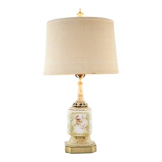 Victorian Porcelain Jar Table Lamp
