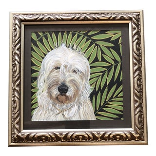 Labradoodle Dog Print by Contemporary Artist Judy Henn For Sale