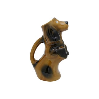 Mid-Century French Majolica Begging Dog Water Jug Preview