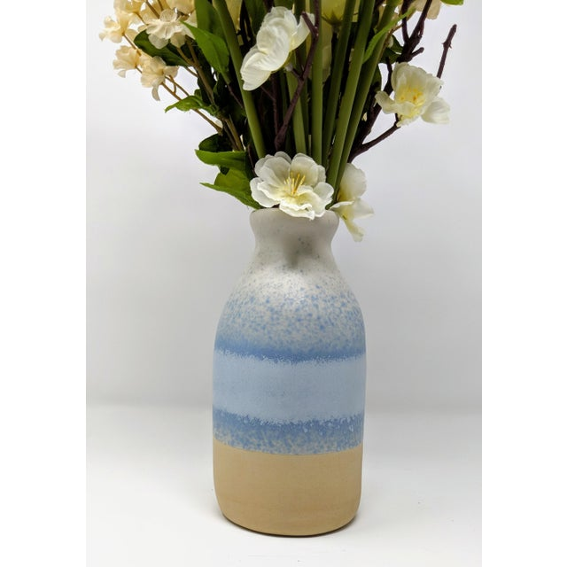 Blue and White Gradient Vase For Sale - Image 4 of 12