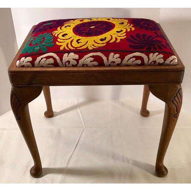 20th Century Persian Uzbek Suzani Stool Bench For Sale - Image 9 of 9