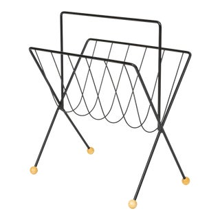 Wire Magazine Rack by Tony Paul For Sale