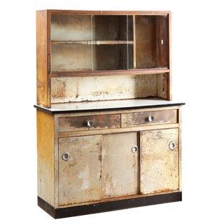 Streamline Steel & Porcelain Medicine Cabinet Circa 1930s