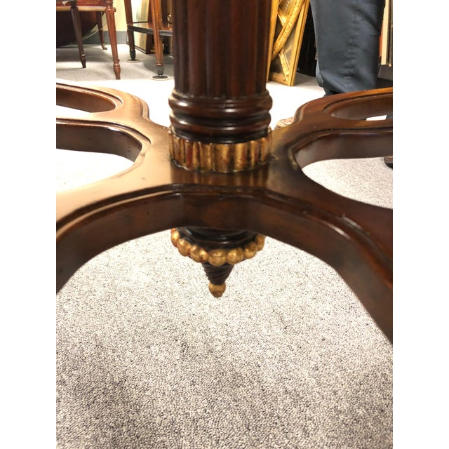1990s Traditional Maitland Smith Round Faux Stone Center or Side Table For Sale - Image 9 of 13