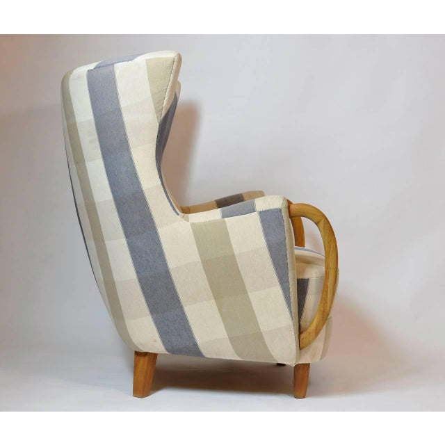 Country 1950s Danish Lounge Chair For Sale - Image 3 of 7