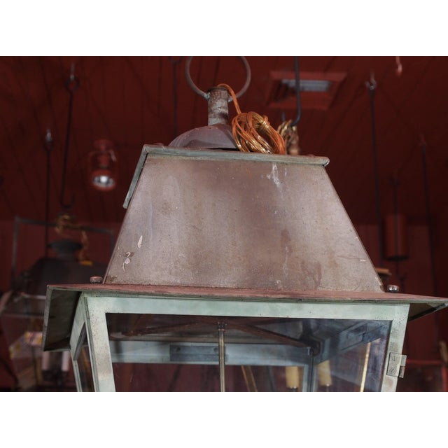 Rustic 19th Century French Copper Lantern For Sale - Image 3 of 6
