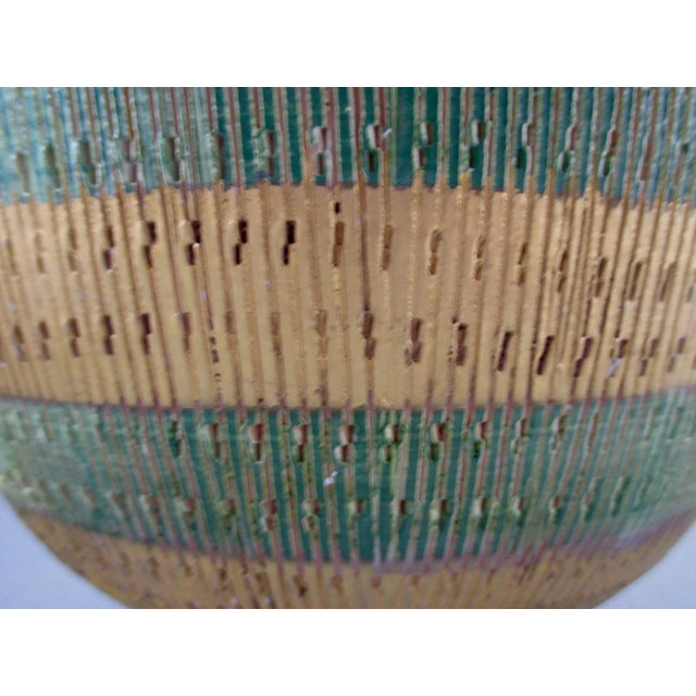Bisotti Italian Green & Gold Footed Pottery Bowl - Image 3 of 6