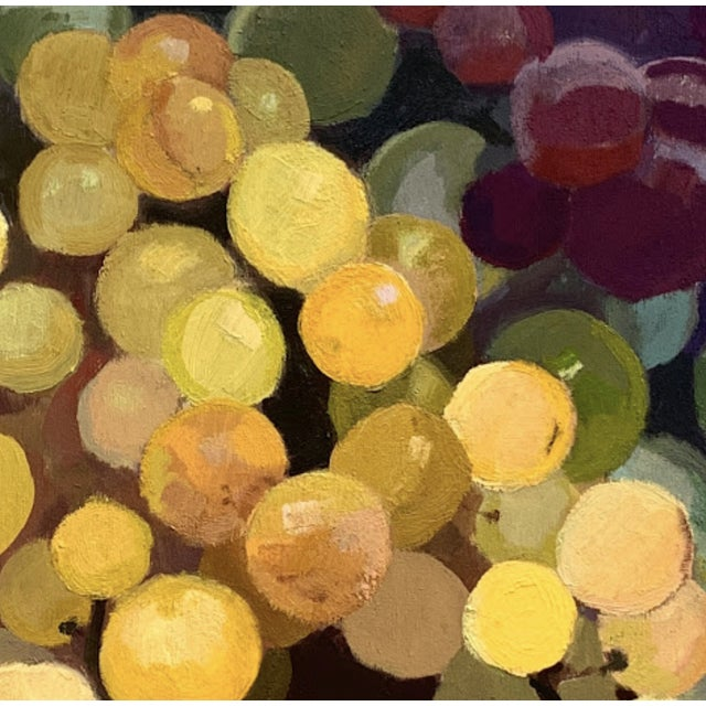 Caitlin Winner Original Oil Painting - Rainbow Grapes For Sale - Image 4 of 5