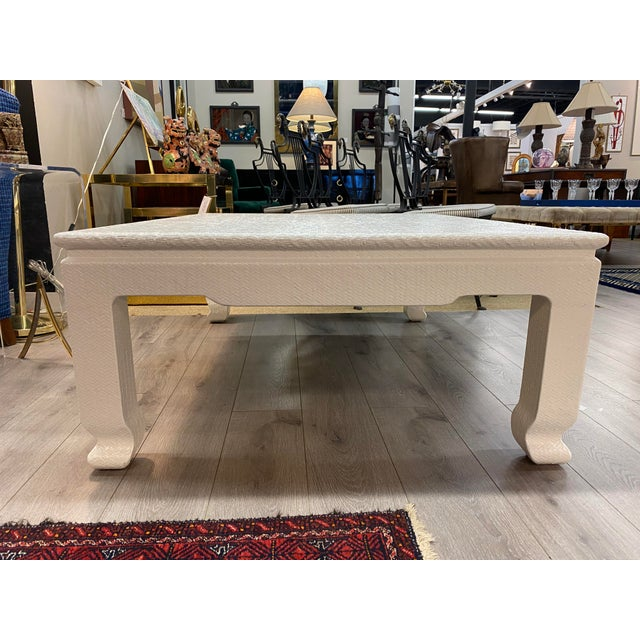 Vintage Lacquered Weave Lopped Coffee Table For Sale - Image 10 of 11