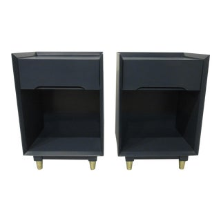 Mid Century Theodore J. Walczer Nightstands-a Pair For Sale