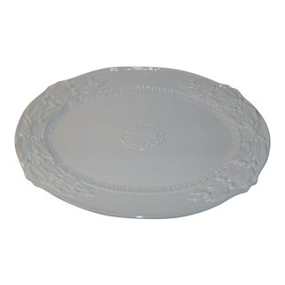 Fitz & Floyd Chateau Blanc Large Serving Platter New in Box For Sale