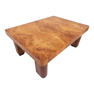 Studio Made Brazilian Burl Wood Coffee Table, Circa 1970s For Sale