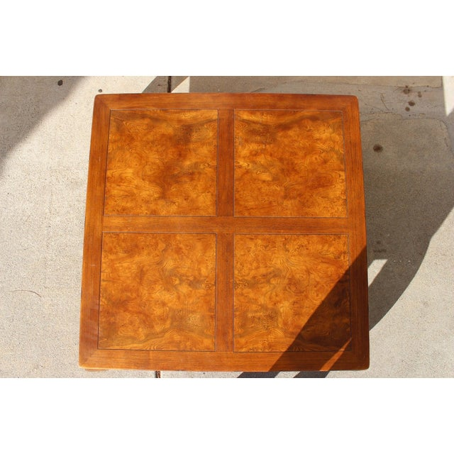1940s 1940s Ming Henredon Oak Coffee Cocktail Table For Sale - Image 5 of 8