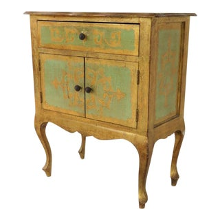 Italian Florentine Gold Gilt Nightstand For Sale