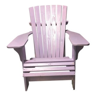 Cottage Painted Wooden Purple Side Chair For Sale