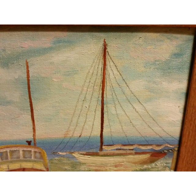 Seascape, 1969 Signed Acrylic on Canvas Board - Image 4 of 6