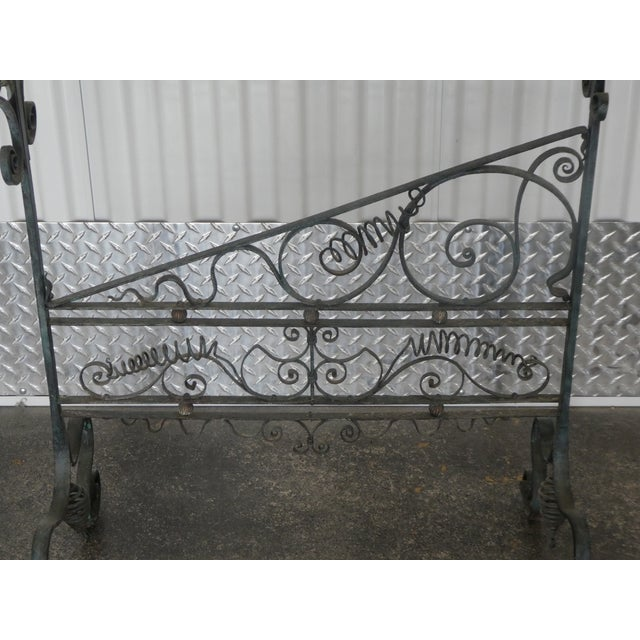 19th Century French Faux Bamboo Brass and Wrought Iron Blanket Stand For Sale In Miami - Image 6 of 8