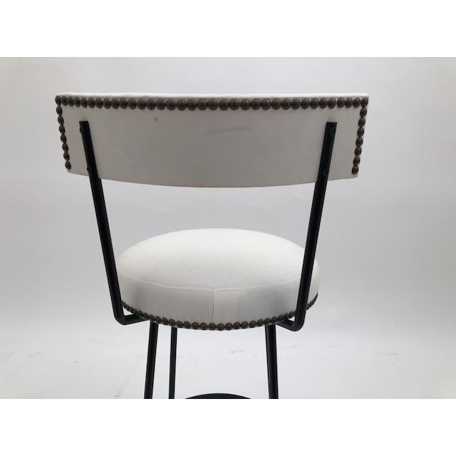 Early 21st Century Cast Bronze and Black Iron Barstool (Bar Height) For Sale - Image 5 of 7