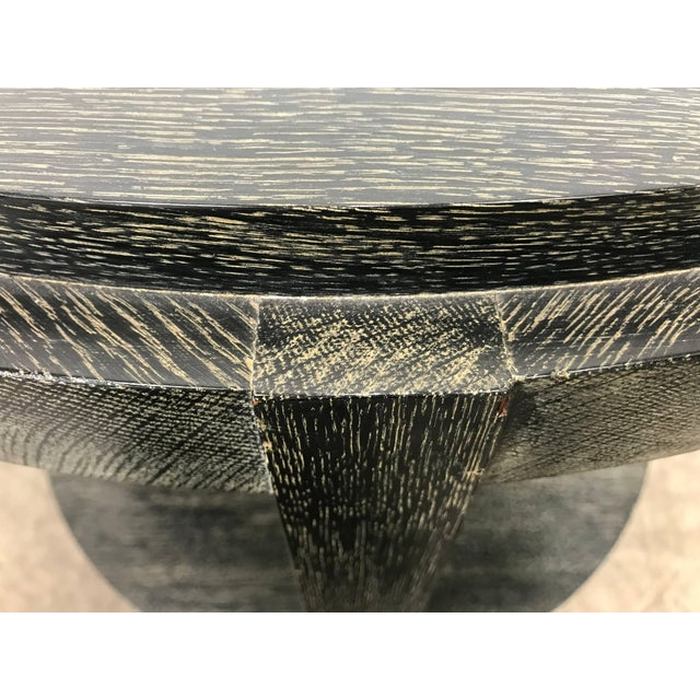 Mid 20th Century Stunning Ebonized Cerused Oak Center / Lamp Table James Mont For Sale - Image 5 of 8