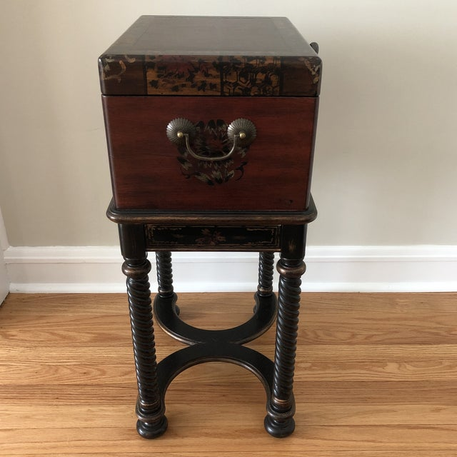Hooker Furniture living room Dynasty box on stand. Visions of adventures and the lure of history come together in this...