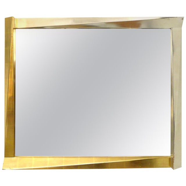 1970s Cubist Giltwood-Framed Mirror For Sale - Image 5 of 5