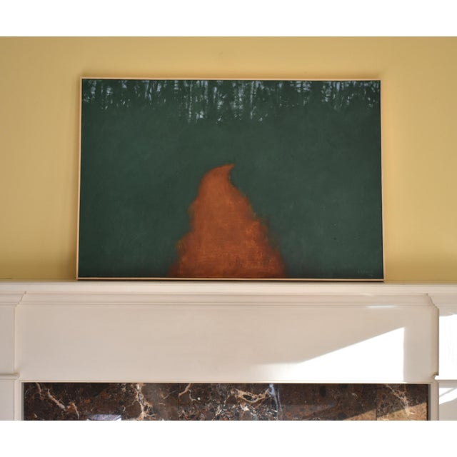 "Contemporary Abstract Painting, ""Passing Through the Pines"", by Stephen Remick For Sale - Image 9 of 9"