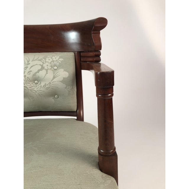 19th Century French Empire Neoclassical Armchair For Sale - Image 9 of 11