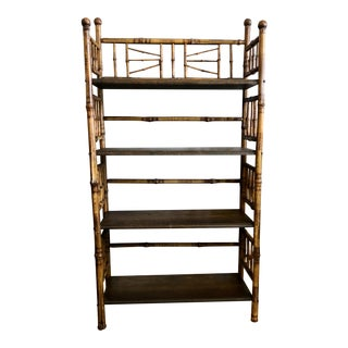 Antique Bamboo Bookcase For Sale