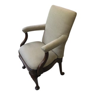 Mid-19th Century Queen Anne Style Fruitwood Arm Chair